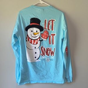 Simply Southern Let It Snow Long Sleeve Tee M